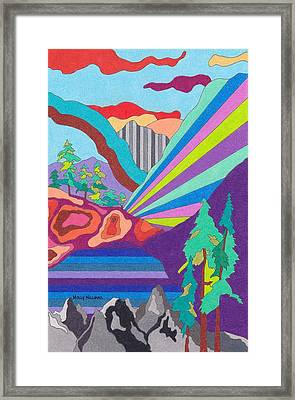Painted Canyon Framed Print by Molly Williams