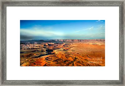 Painted Canyonland Framed Print