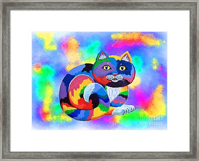 Painted Cat Framed Print by Nick Gustafson