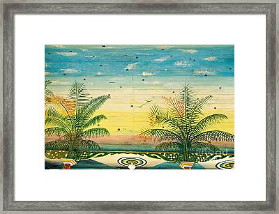 Painted Church Ceiling Framed Print