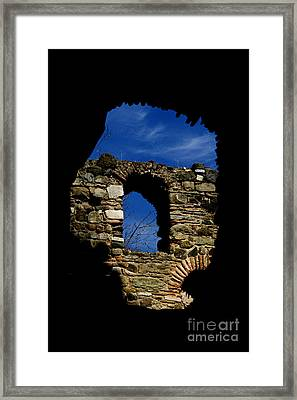 Painted Church Framed Print by Zafer GUDER