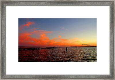 Painted Clouds Of New Haven Framed Print by Stephen Melcher