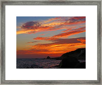 Painted Clouds Sunrise Framed Print by Dianne Cowen