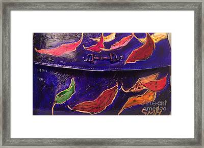 Painted Clutch Purse Titled Fallen Into Place Framed Print by Sherry Harradence