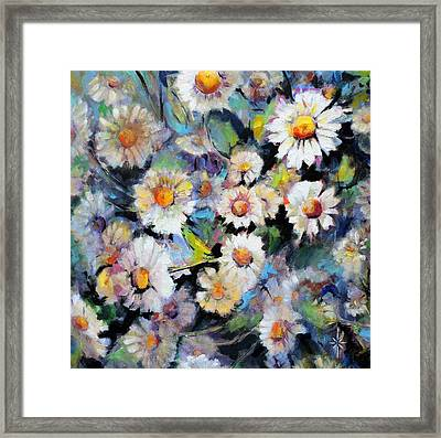 Painted Daisy Framed Print