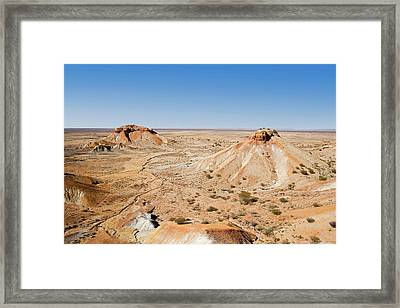 Painted Desert, Arkaringa Framed Print by David Wall