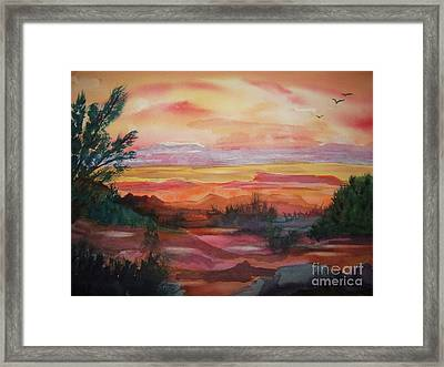 Painted Desert II Framed Print by Ellen Levinson