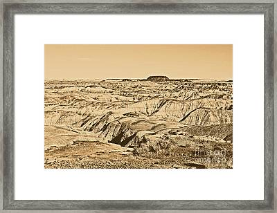 Painted Desert In Petrified Forest National Park Rustic Framed Print by Shawn O'Brien