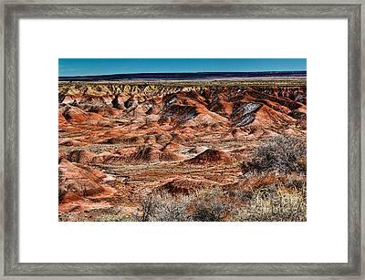 Painted Desert In Winter Framed Print