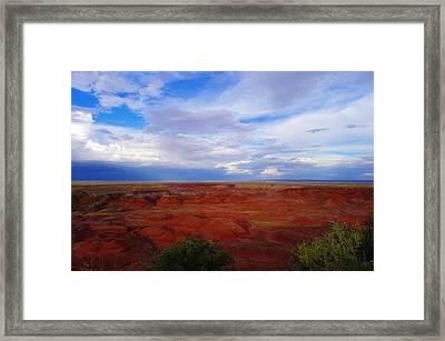 Painted Desert Landscape Framed Print by Jeff Swan