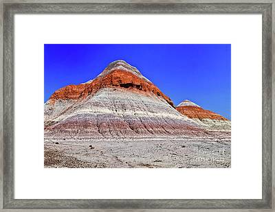 Framed Print featuring the photograph Painted Desert National Park by Bob and Nadine Johnston