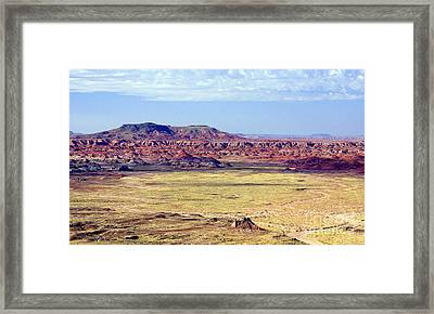 Painted Desert Vista Framed Print by Douglas Taylor
