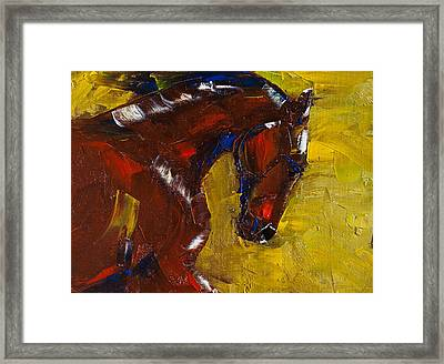 Painted Determination Framed Print