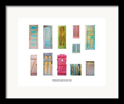Mixed Media On Old Wooden Gate Framed Prints