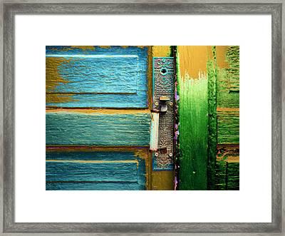 Painted Doors Framed Print