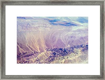 Painted Earth I Framed Print by Jenny Rainbow