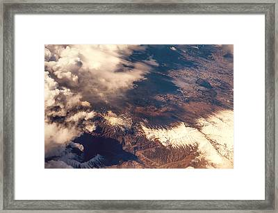 Painted Earth IIi Framed Print by Jenny Rainbow