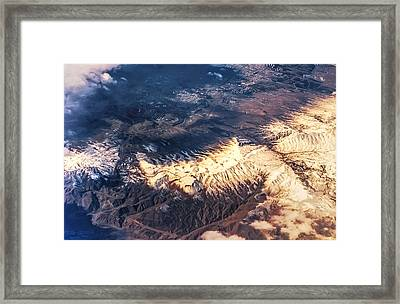 Painted Earth Iv Framed Print by Jenny Rainbow