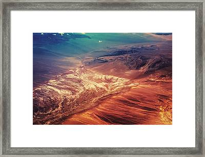 Painted Earth Framed Print by Jenny Rainbow