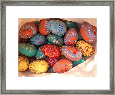 Painted Eggs Framed Print