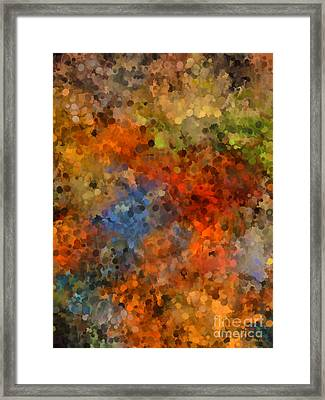 Painted Fall Abstract Framed Print