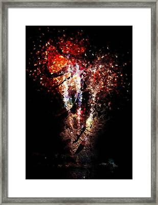 Painted Fireworks Framed Print