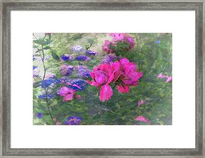 Painted Garden Framed Print by Larry Bishop