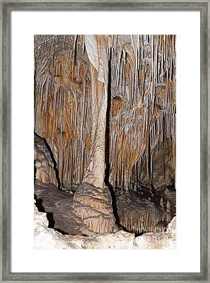 Painted Grotto Carlsbad Caverns National Park Framed Print