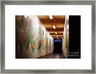 Painted Hallway Framed Print