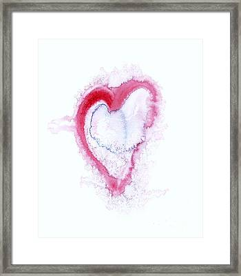 Painted Heart - Symbol Of Love Framed Print