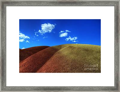 Painted Hills Blue Sky 1 Framed Print by Bob Christopher