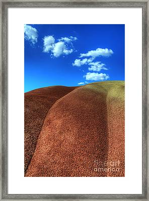 Painted Hills Blue Sky 2 Framed Print by Bob Christopher