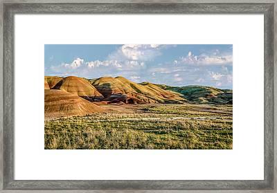 Painted Hills Sunset Framed Print by Joe Hudspeth