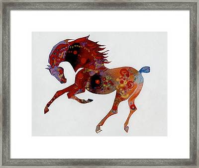 Painted Horse A Framed Print by Mary Armstrong