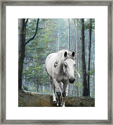 Painted Horse Framed Print by Diana Shively