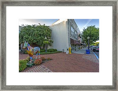 Painted Horse On Laurens Street In Aiken Sc Framed Print