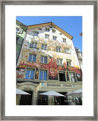 Painted House Fritschi Framed Print