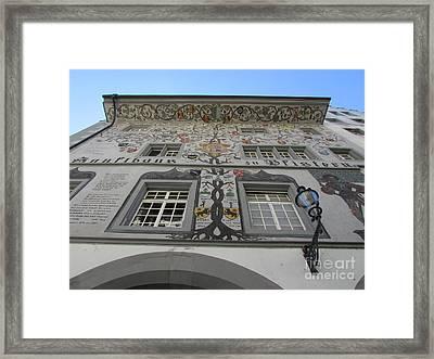 Painted House On The Rathaussteg Framed Print