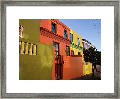 Painted Houses In A Row, Cape Malays Framed Print