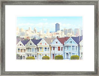 Painted Ladies Alamo Square San Francisco Framed Print by Douglas MooreZart