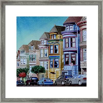 Painted Ladies Framed Print