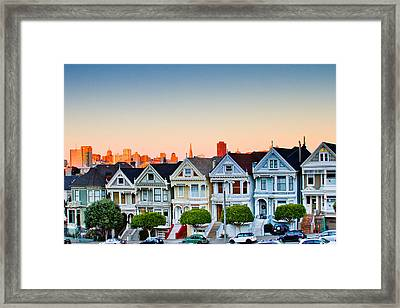 Painted Ladies Framed Print by Bill Gallagher