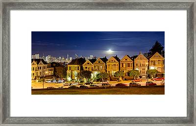 Painted Ladies Framed Print by Mike Ronnebeck