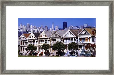 Painted Ladies Framed Print by Ron Smith