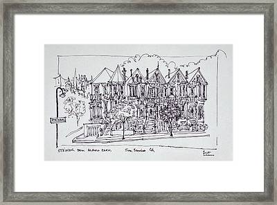 Painted Ladies Victorian Architecture Framed Print
