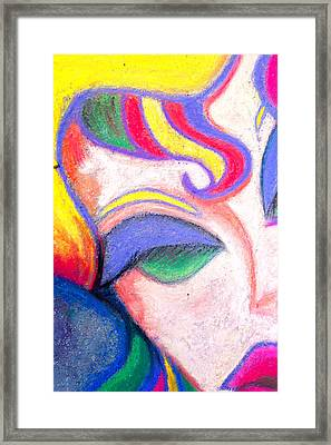 Painted Lady Graffiti Street Art Framed Print