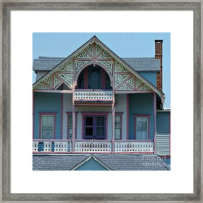Painted Lady In Ocean Grove Nj Framed Print by Anna Lisa Yoder