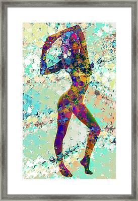 Painted Lady Framed Print by Kiki Art
