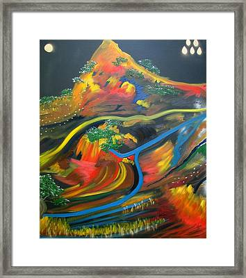 Painted Landscape Framed Print