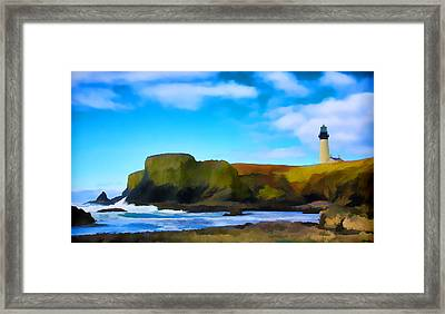 Painted Lighthouse Framed Print by Steve McKinzie